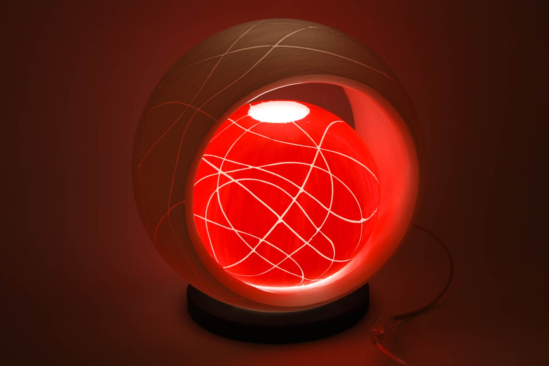 Lampada elettrica in cera sfera nella sfera rossa filo for Lampade a led lunghe